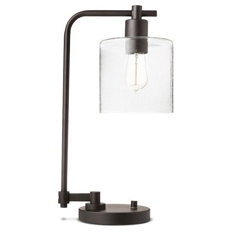 Hudson Industrial Desk Lamp - Ebony (Includes CFL Bulb ...
