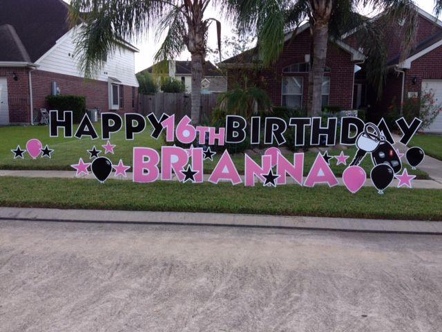 Www Yardcardgreetings Com We Ship Nationwide Sweet Sixteen Birthday Sign Yard Cards Birthday Party Themes