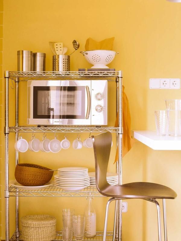 Genial cocina al microondas galer a de im genes comida for Donde poner la heladera en la cocina