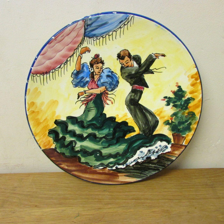 Vintage hand-painted Flamenco dancers wall plate | I ❤ vintage ...
