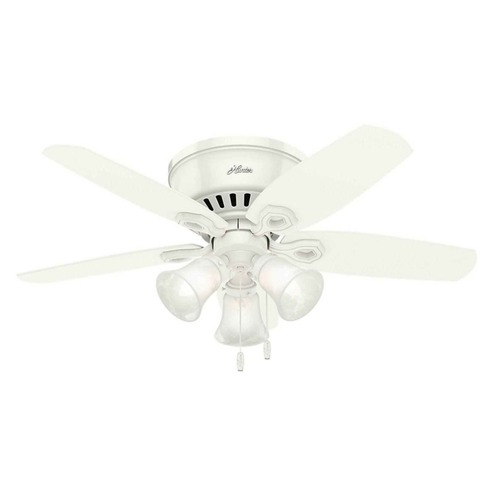 Hunter Builder Low Profile 5109 42 In Indoor Ceiling Fan Ceiling Fan With Light Ceiling Fan Flush Mount Ceiling Fan