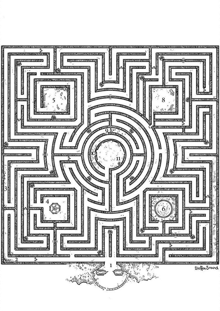 Aventurischer Bote Nr 160 Kalias Labyrinth By Steffenbrand Labyrinth Design Labyrinth Art Labyrinth Maze