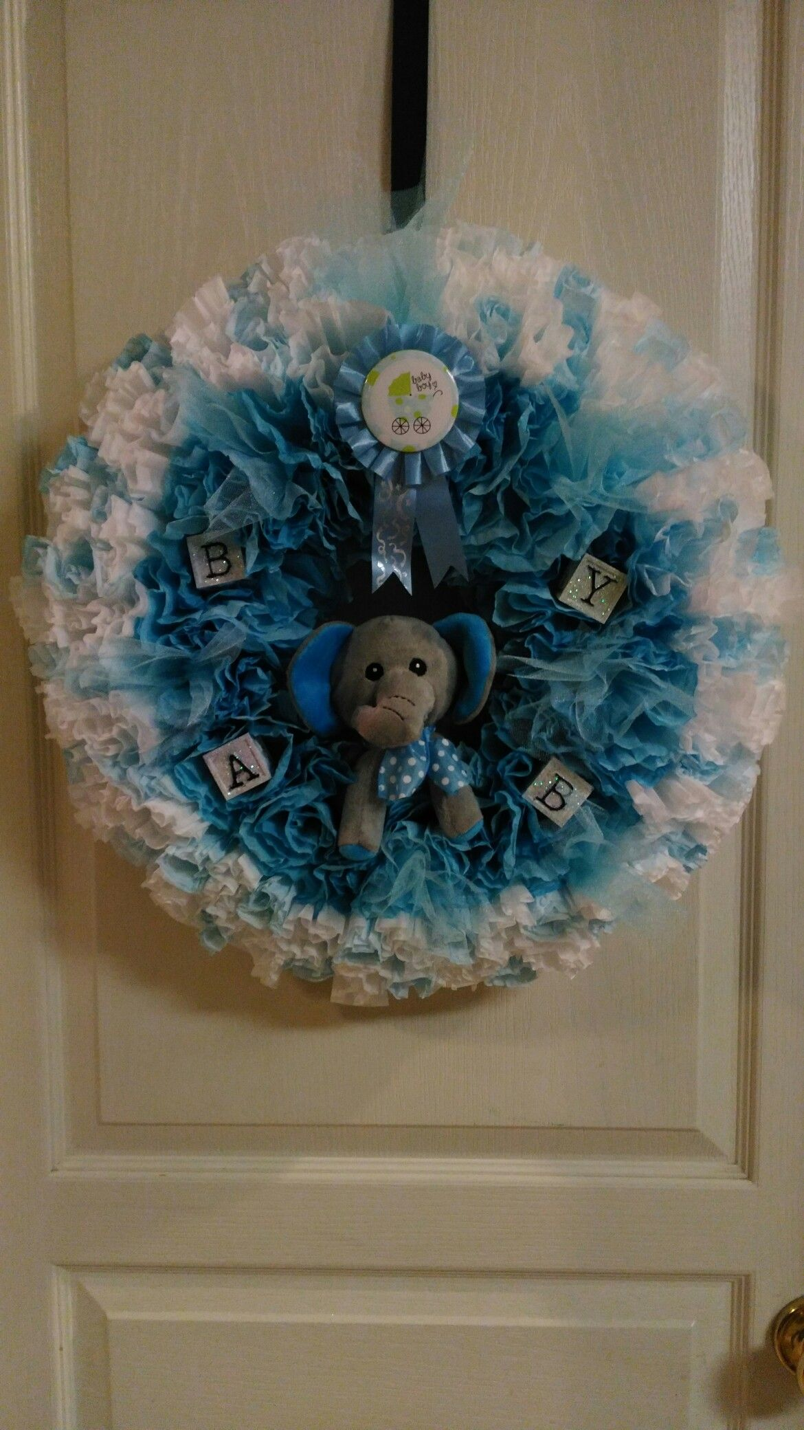 It's a Boy! Welcome home wreath.