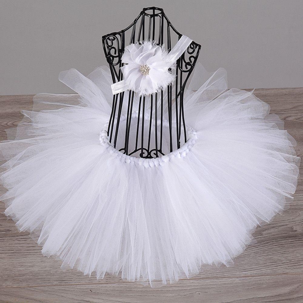 Newborn baby tutu skirts with headband newborn baby girl clothes