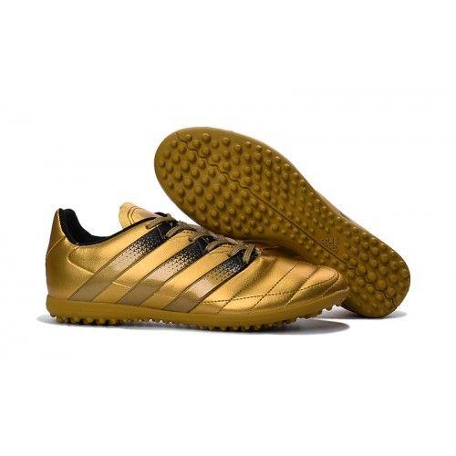 2017 adidas ace 16.3 tf mens football boot gold black free shipping