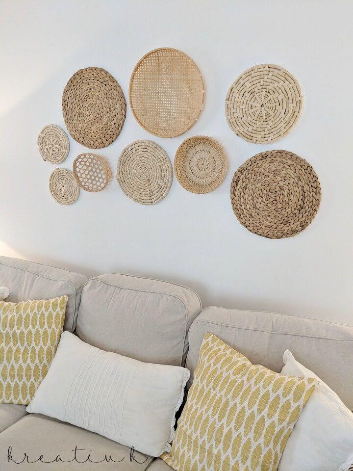 Basket Place Mat Gallery Wall Kreativk Decoratie Thuis Woonkamer Inspiratie Woonkamer