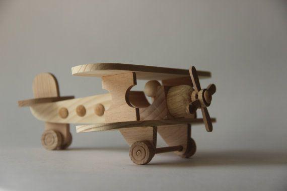 Juguete de madera del avión Biplano juguete de