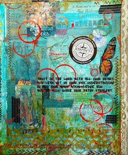 Altered Schoolmarm: Trust In The Lord - Altered Book Page