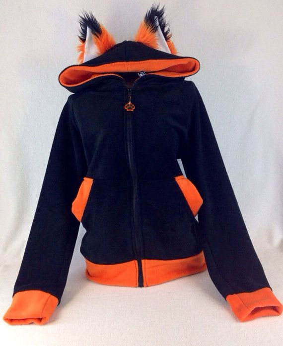 FOX YIP Hoodie you choose color theme Cosplay costume by pawstar, $85.00