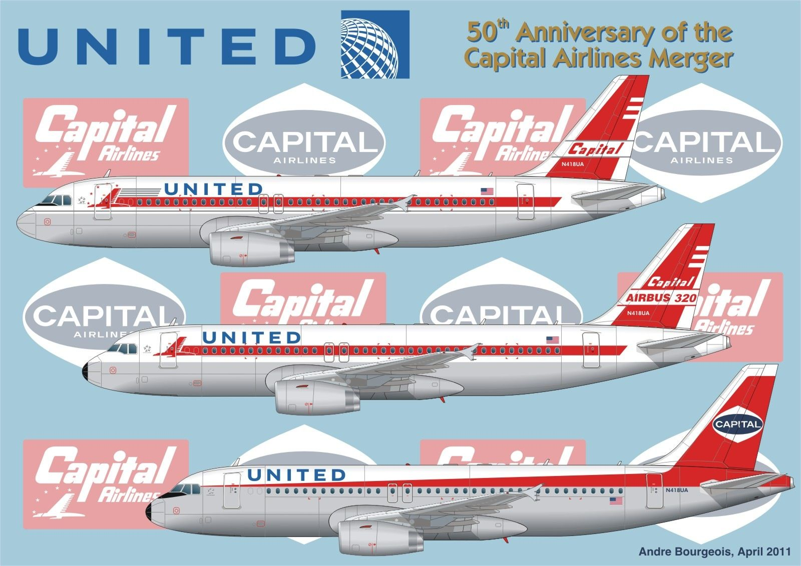 United Airlines A320 retro fleet pop livery Pinterest