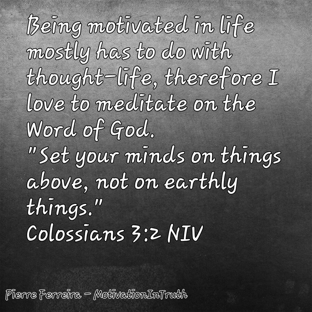 Meditate on his word day and night daily meditation