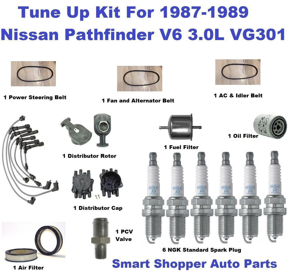 Tune Up For 1987 1988 1989 Nissan Pathfinder V6 Spark Plug Wire Set 2000 Subaru Legacy L Ignition Wiring Kit 87 89 30l Vg30e Filter Aftermarketproducts