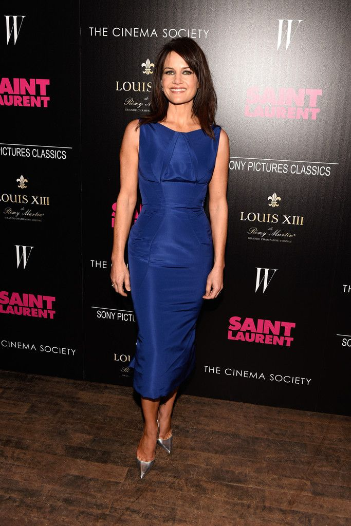 """Carla Gugino Photos Photos - Carla Gugino attends Sony Pictures Classics' screening of """"Saint Laurent"""" hosted by The Cinema Society with Louis XII Cognac and W Magazine at the Tribeca Grand Hotel on April 29, 2015 in New York City. - Screening Of Sony Pictures Classics' 'Saint Laurent' - Arrivals"""