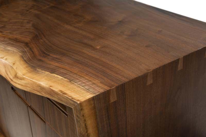 Live edge walnut buffet bookshelves pinterest