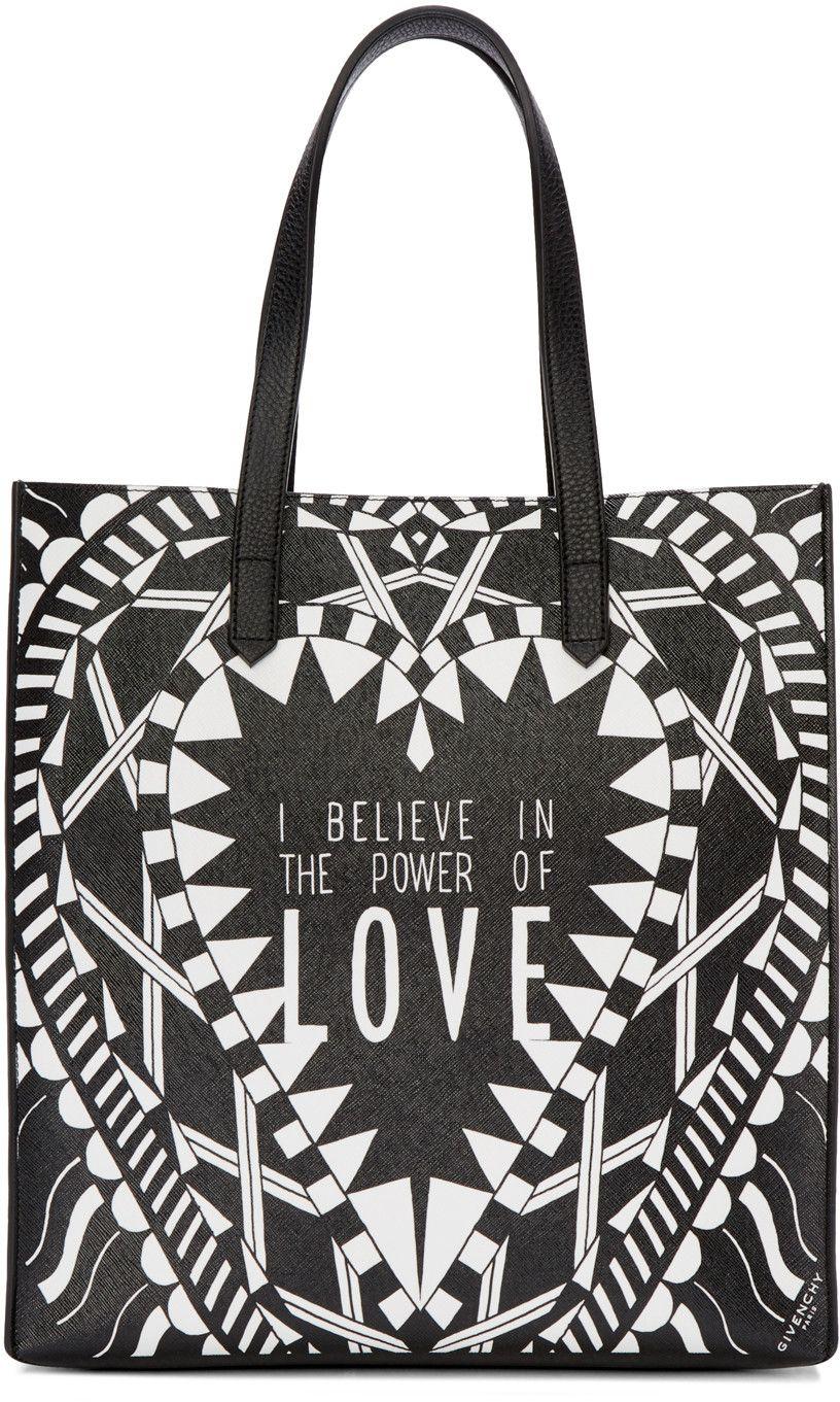 59bc8b368e Givenchy - Black   White Medium  Power of Love  Tote