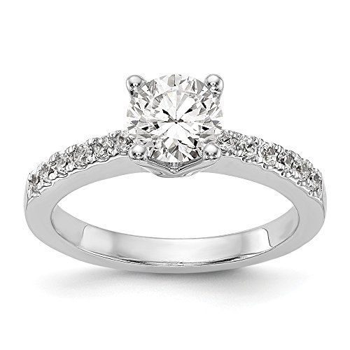 14k White Gold True Origin Lab Grown Diamond VS/SI Colorless Semi Mount  Engagement