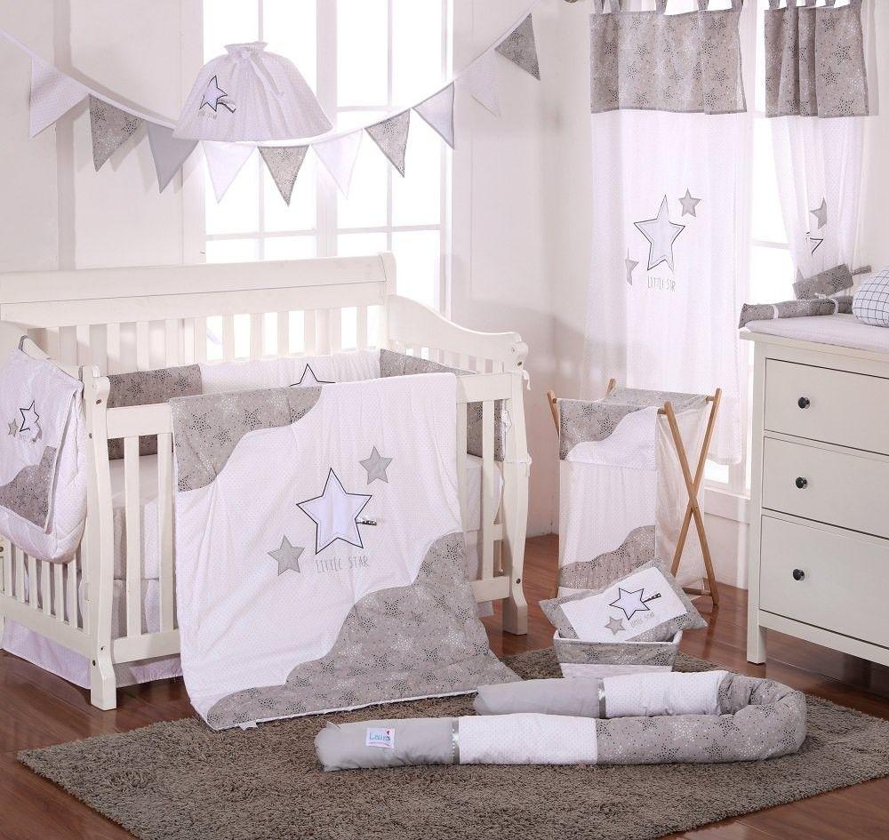 Grey Little Star 4 Pc Crib Bedding Set