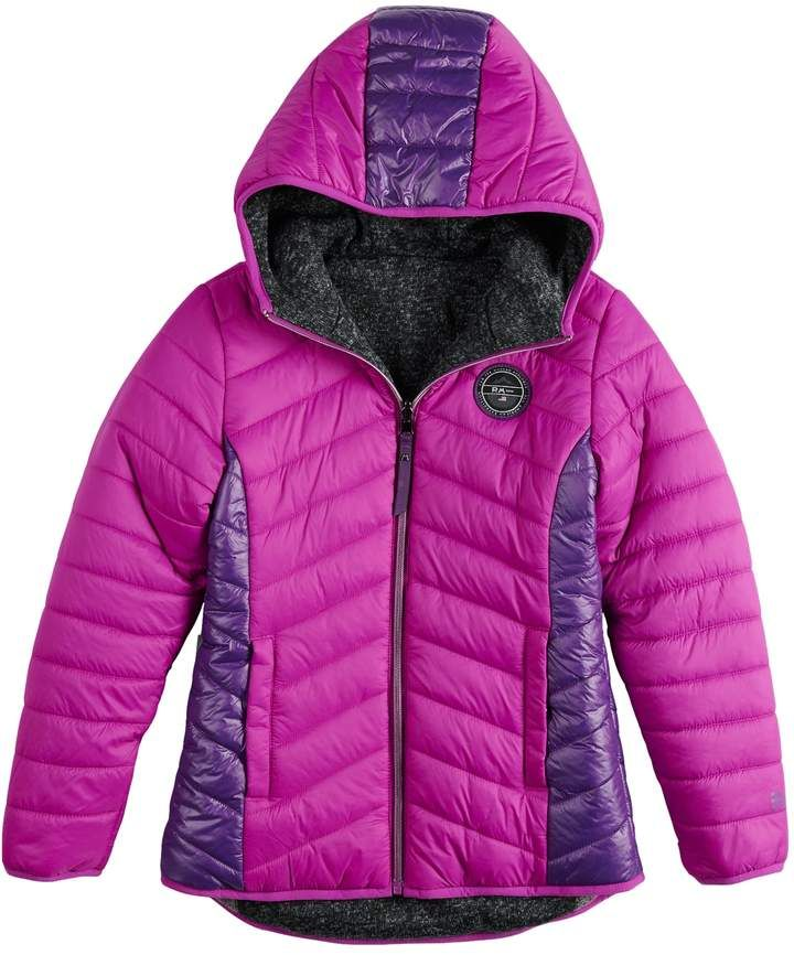 a7c697c93 Girls 7-16 Rosemont 1958 Wenna Reversible Quilted Puffer & Sweater ...