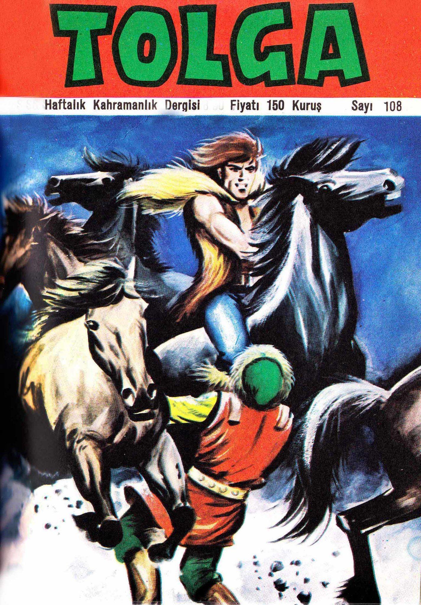 Tolga Haftalık Kahramanlık Dergisi Sayı 108 - Raca'nın Kızı - Çizgi Roman Diyarı