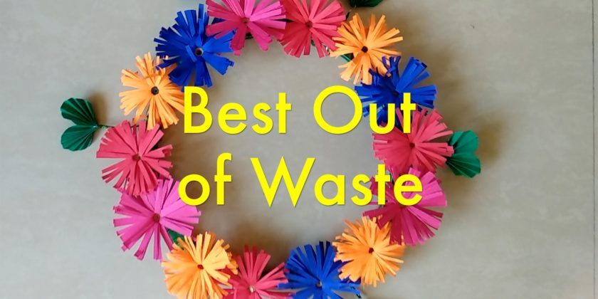 Best Out of Waste Wall Hanging using Cooker GASKET How to
