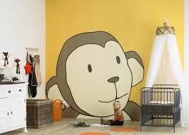resultado de imagen para paredes pintadas con dibujos infantiles