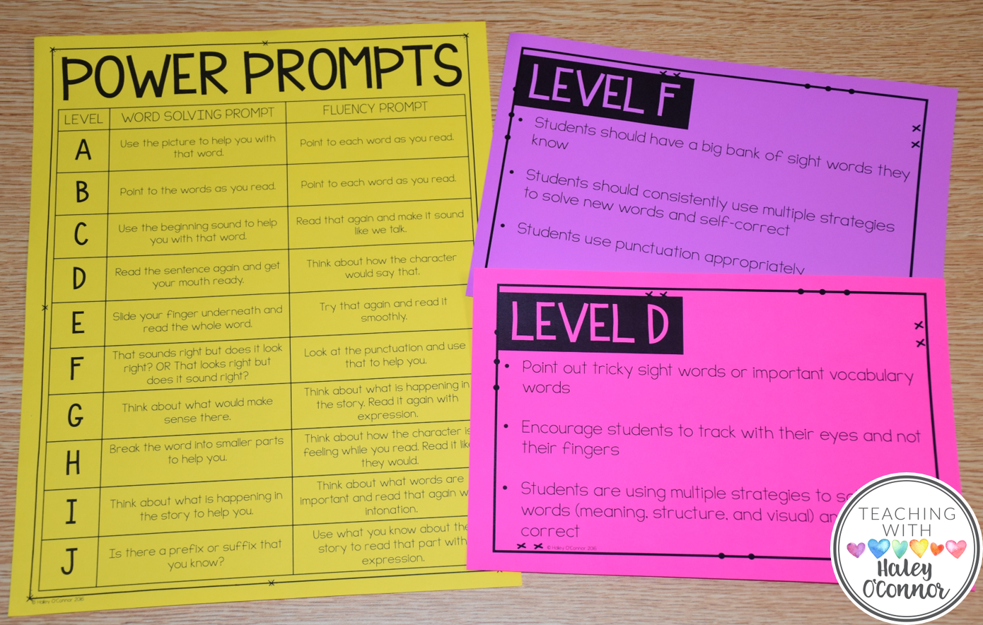 Teacher Prompts for Guided Reading