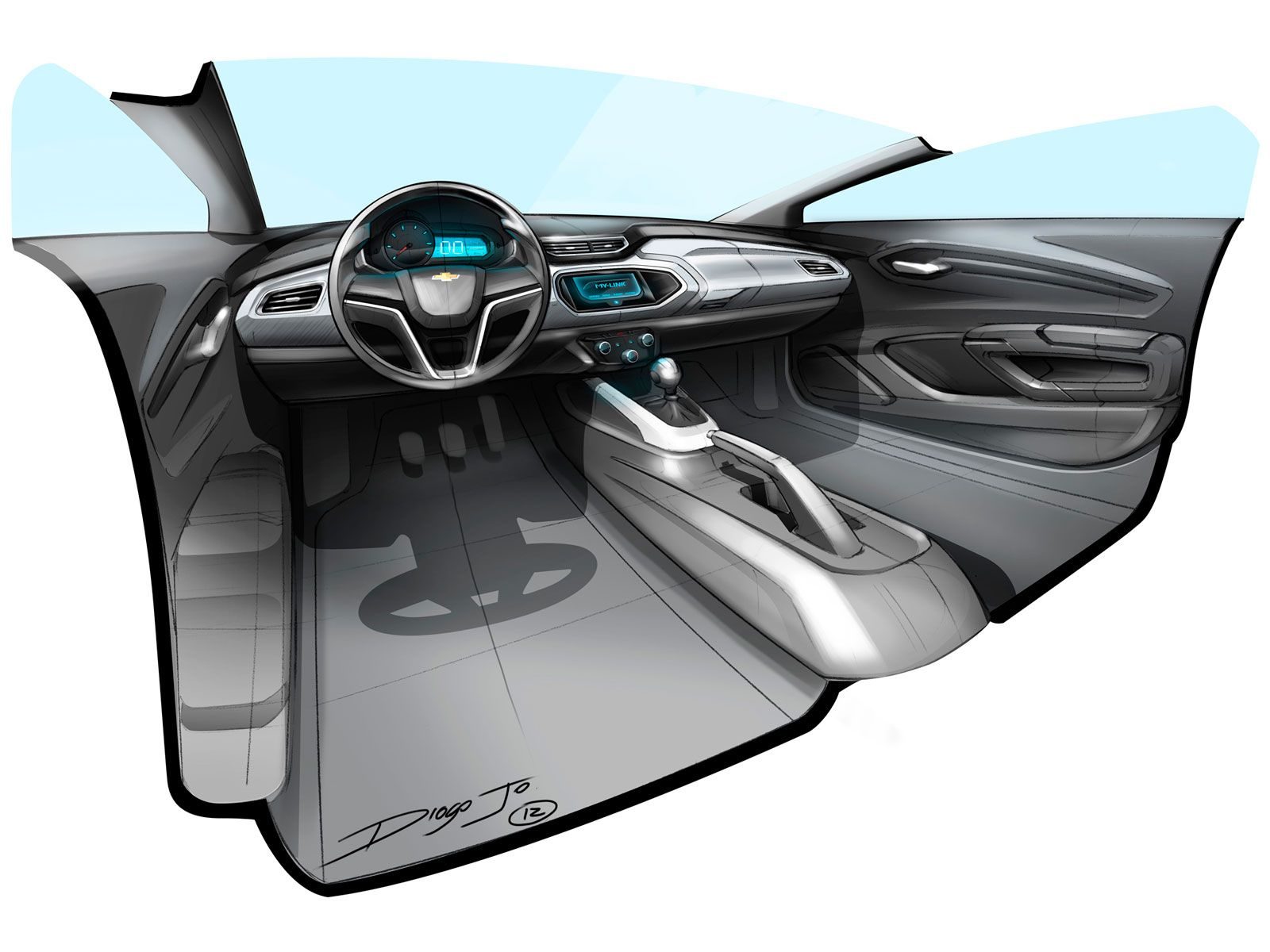 Chevrolet Onix Interior Design Sketch Sketches Pinterest