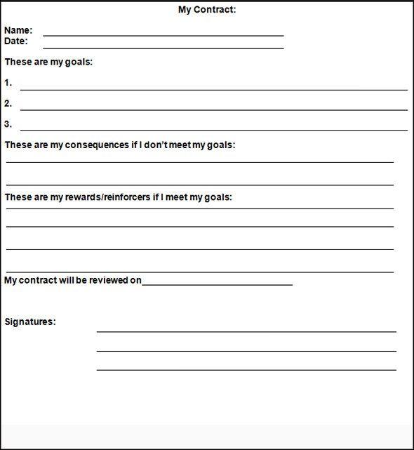 bu003eBehavioru003c\/bu003e u003cbu003eContractu003c\/bu003e Template Teacher Stuff - teacher contract template