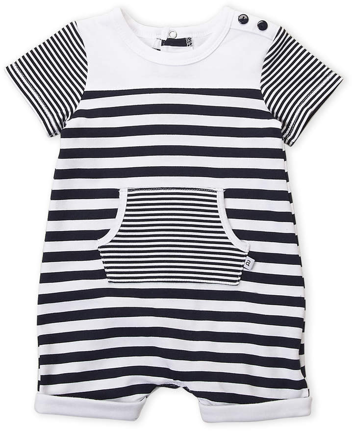 d5e9de80cc6f Absorba Newborn Boys) Navy Stripe Short Sleeve Romper