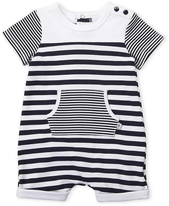 74b00df82bd6 Newborn Boys) Navy Stripe Short Sleeve Romper