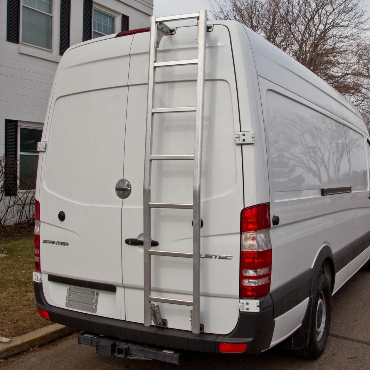 Aluminum HD Cargo Van Ladder for High Roof Dodge RAM