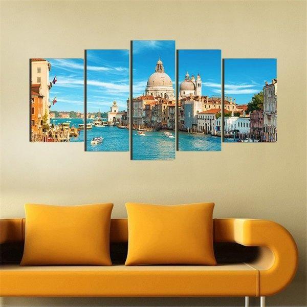 RoseWholesale - #Rosewholesale 5PCS Venice Cityscape Printed Canvas ...