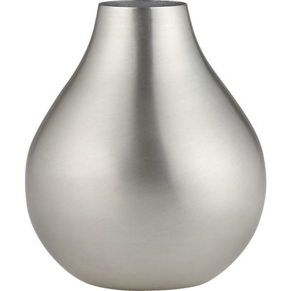 Cooper Stainless Steel Vase In Accessories Crate And Barrel Home
