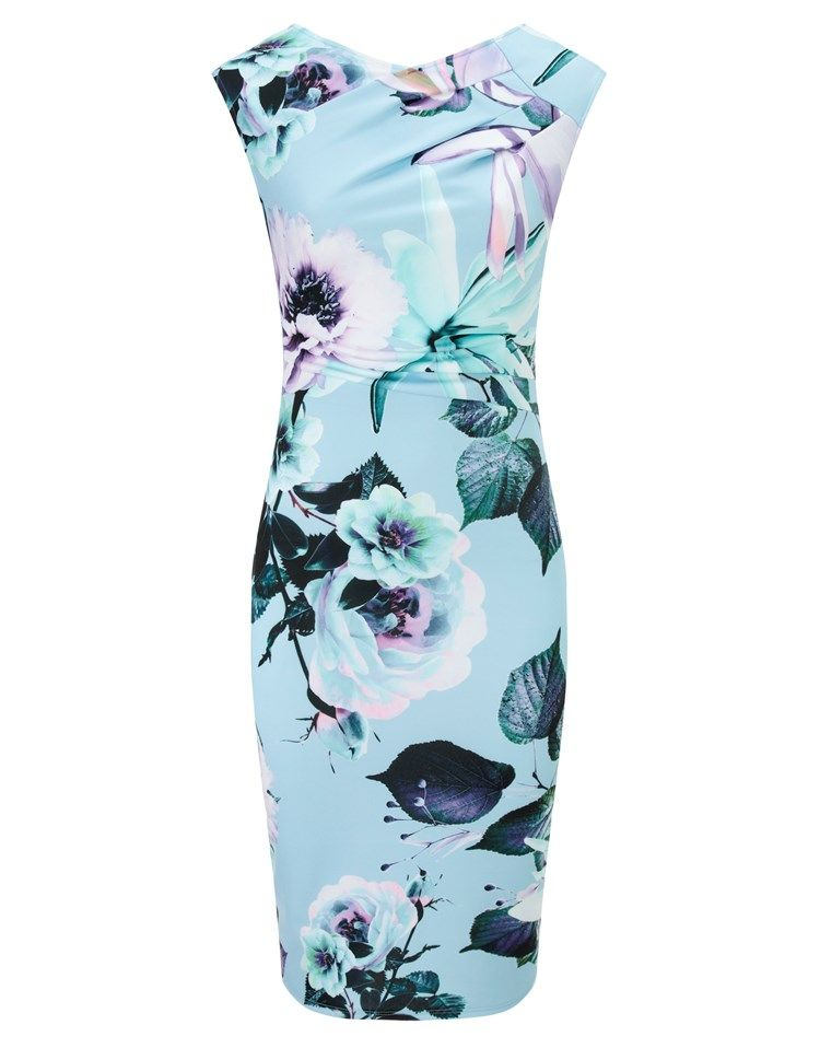 Lipsy Pleated Floral Shift Dress | Wedding guest inspiration ...