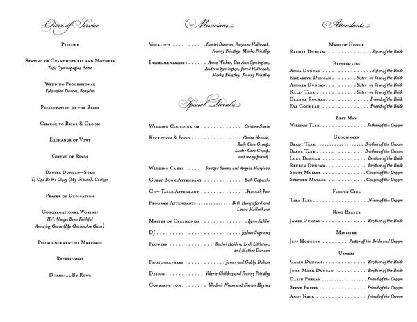 Wedding Program design by Franny Carufe, via Behance bridal - how to design wedding program template