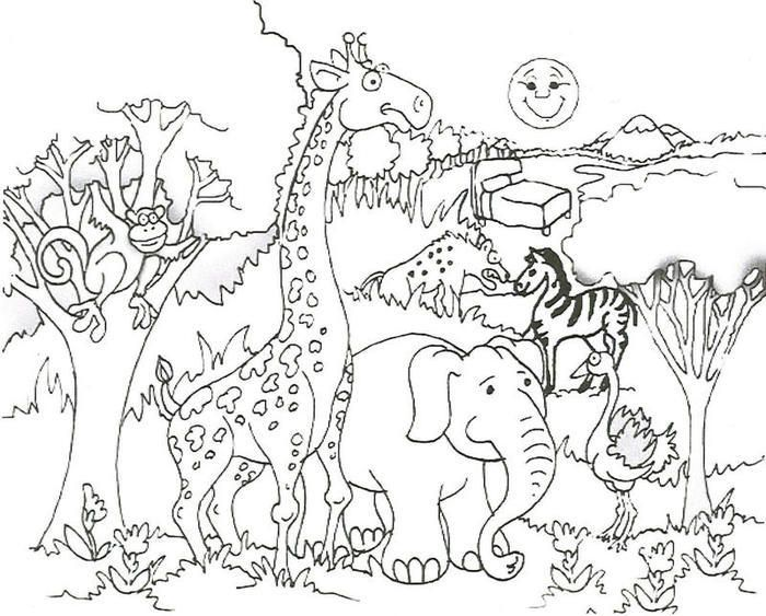 Animal Coloring Page Pdf | Zoo animal coloring pages ...