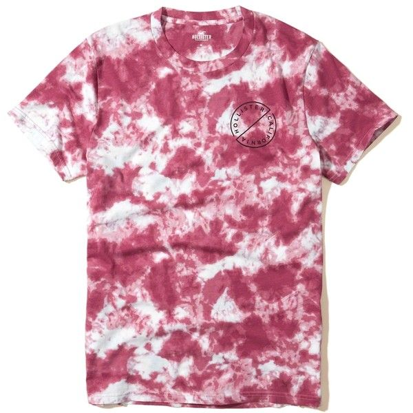 Hollister tie dye graphic tee 20 liked on polyvore for Tie dye printed shirts
