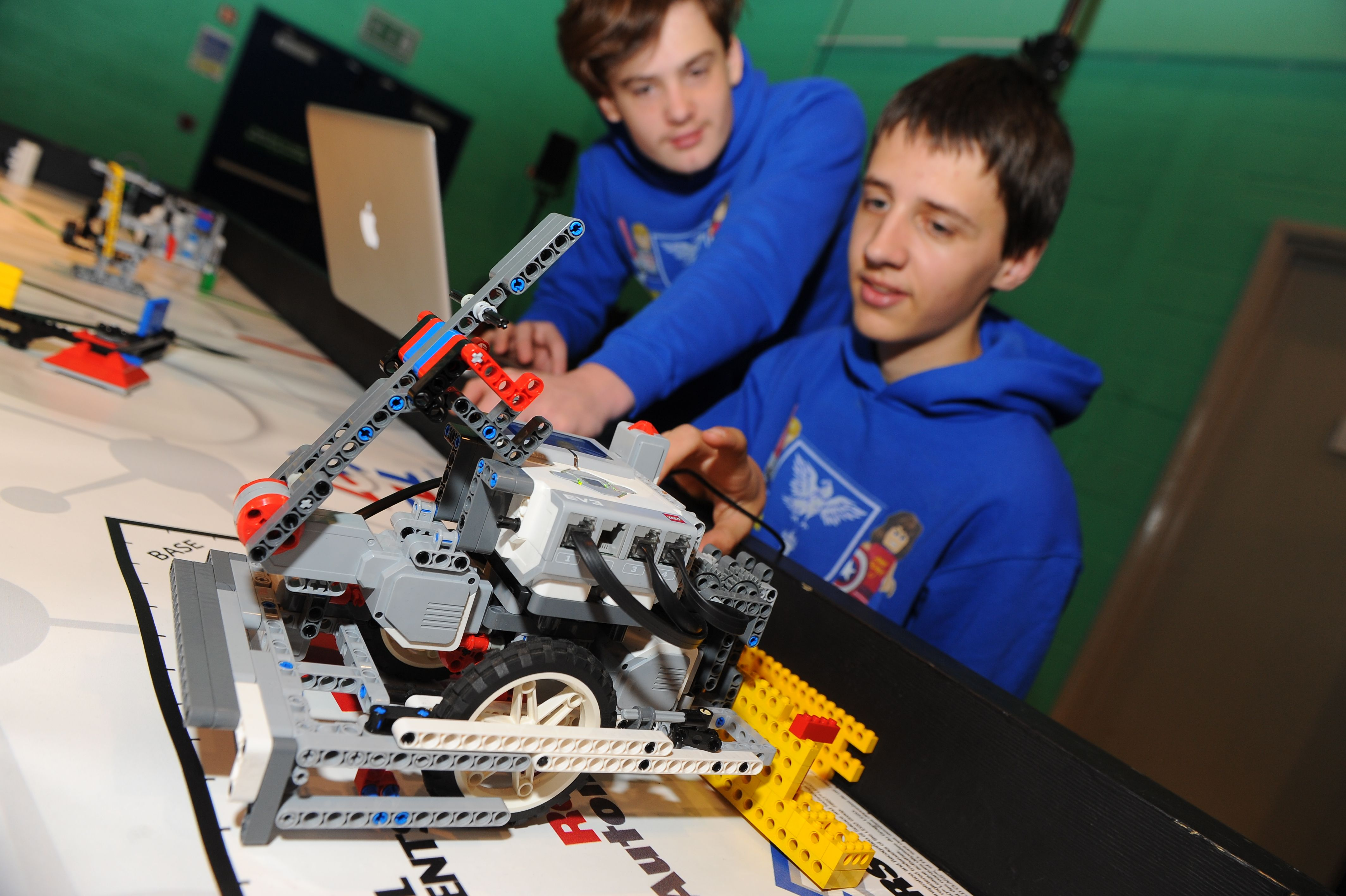 Team spirit and problem solving are among the skills required by these students taking part in the FIRST LEGO League competition http://firstlegoleague.theiet.org/
