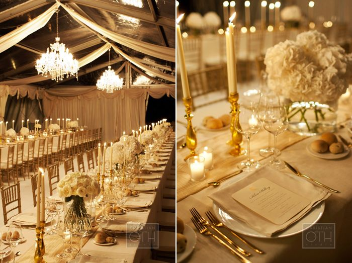 Timeless Ivory Gold Wedding With Scottish Traditions In: A Gold And White Color Scheme Is A Classic Wedding