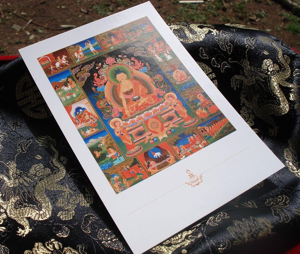 """Cartão Postal """"A Vida de Buddha"""""""