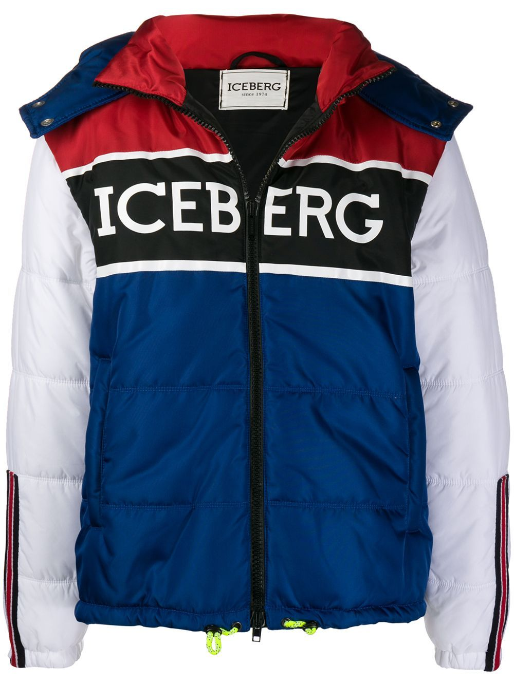 Iceberg Padded Hooded Jacket Farfetch Hooded Jacket Jackets Hooded Jacket Blue [ 1334 x 1000 Pixel ]
