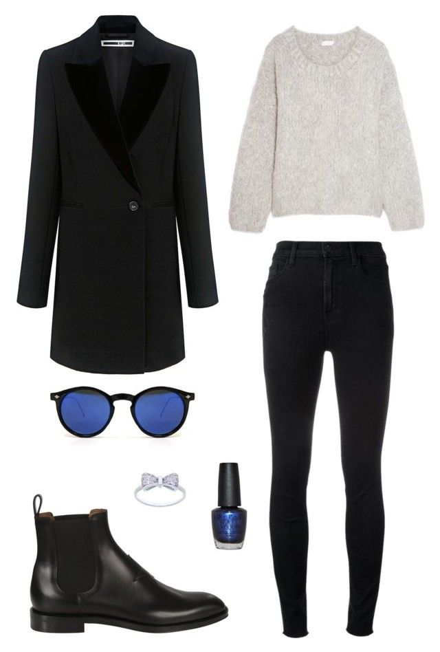 Street style by dalma-m on Polyvore featuring polyvore fashion style Chloé McQ by Alexander McQueen J Brand Givenchy Spitfire OPI clothing