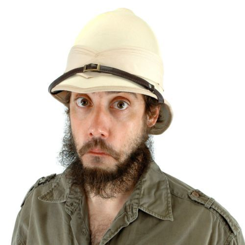 07c8dc6f892 British Pith Helmet Adult HAT Safari Expedition Jungle Explorer Mens Womens  NEW