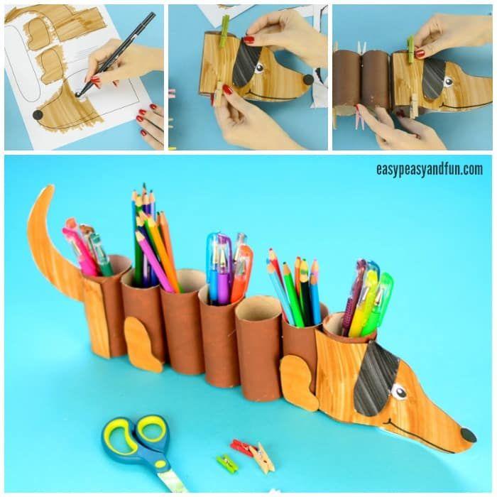 Dog Paper Roll Pencil Holder Belenes Amigurumis Paper