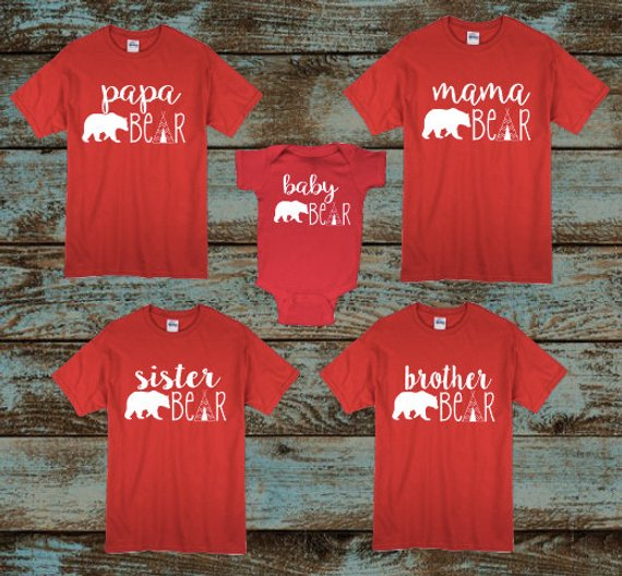 f15acaf4b3 Mama Bear, Papa Bear, Baby Bear, Brother Bear, Sister Bear Shirts, Birthday  Bear, Mommy and Me, Chri