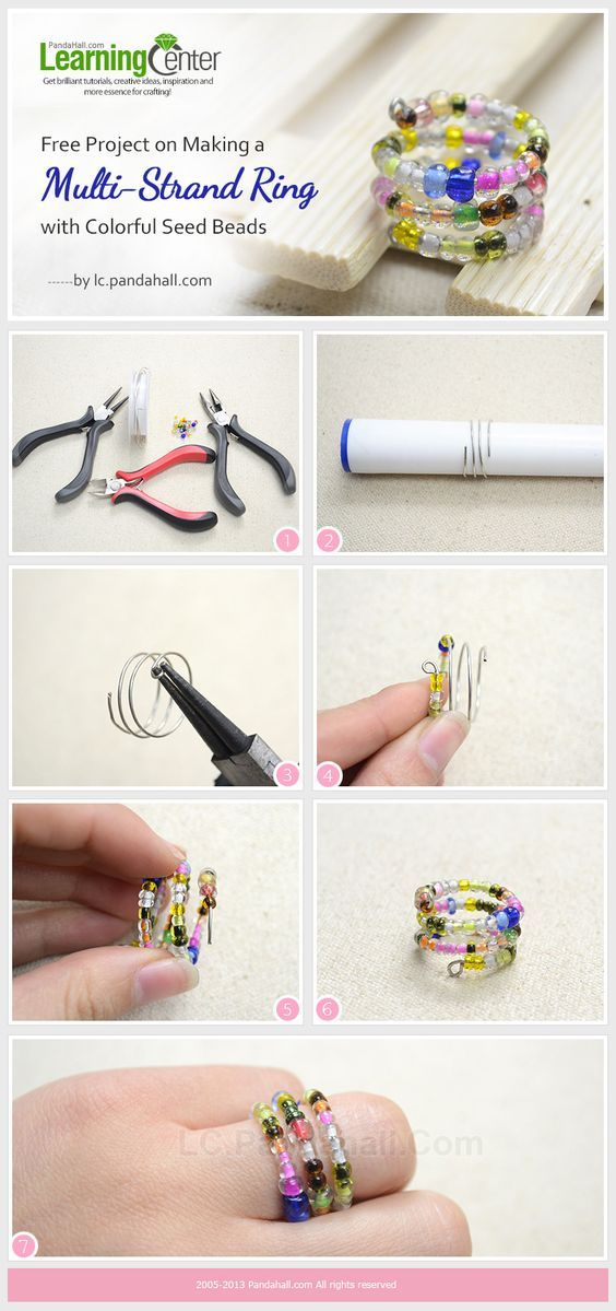 20 Easy Step by Step DIY Tutorials for Making a Ring | Ring tutorial ...