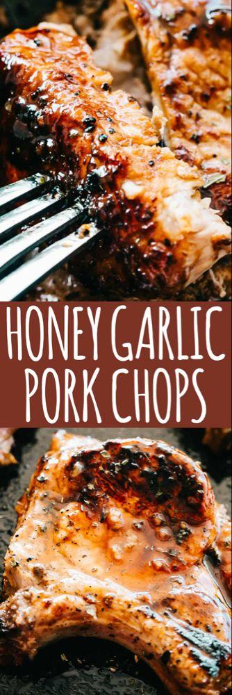 Honey Garlic Baked Pork Chops Recipe | Easy Pork Chop Recipe