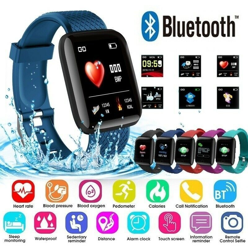 116Plus Smart Watch Wristband Heart Rate Monitor Pedometer Sport Fitness Tracker - Fitness Watch - I...