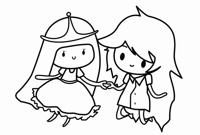 Cartoon Adventure Time Coloring Pages Coloring Pages For Girls Cartoon Coloring Pages