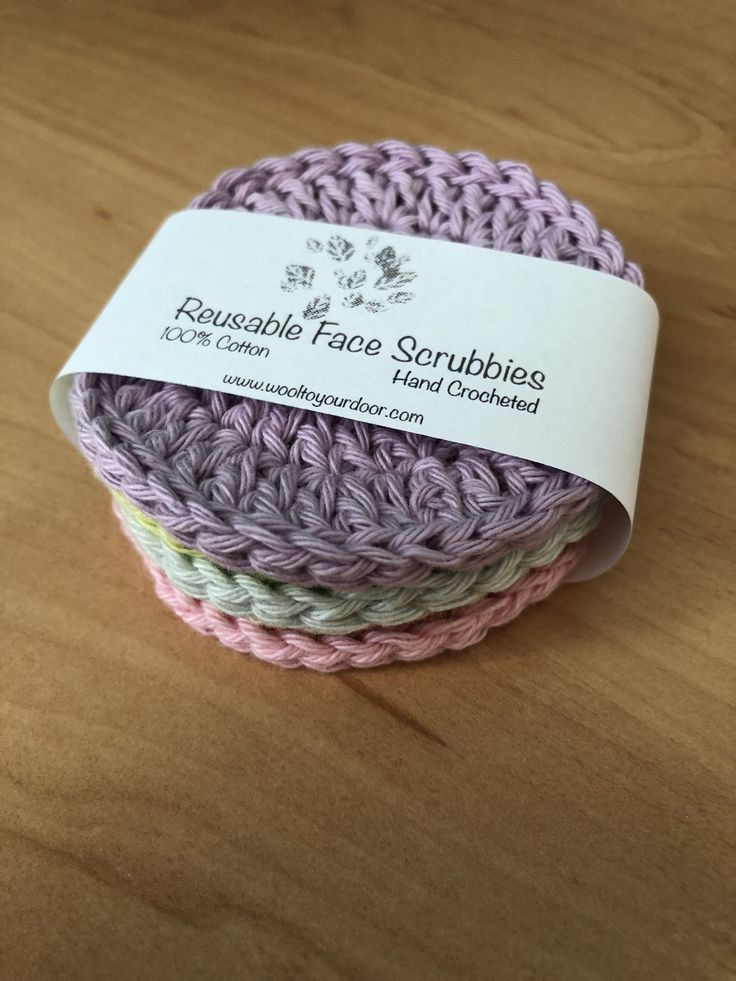 Free Pattern - Reusable Face Scrubbies #knittingprojects